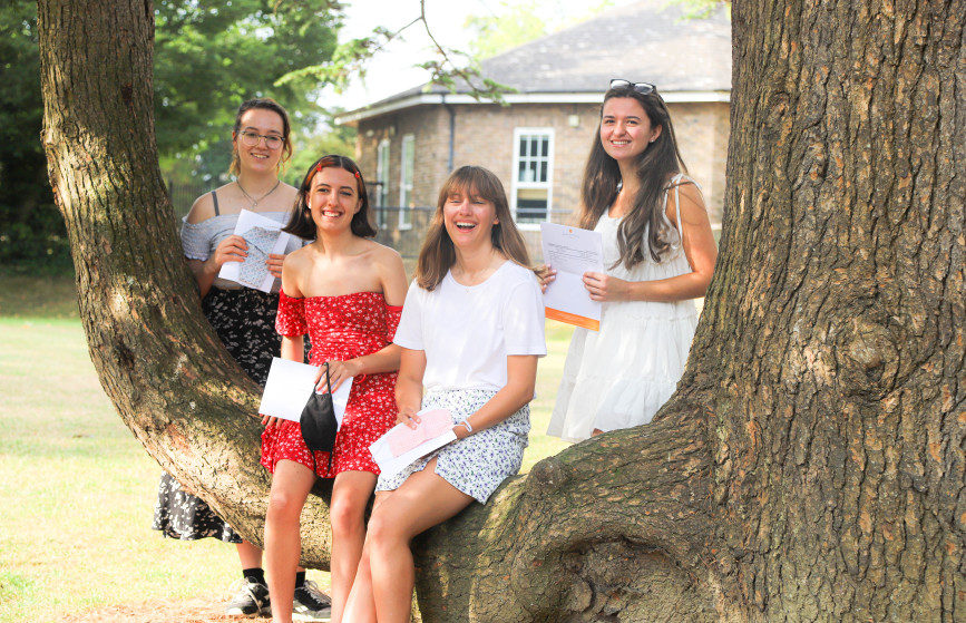 3 A Stars A Level Results Francesca Arlett, Esme Godkin, Natasha Arbon-Stuckle and Cathryn Barton