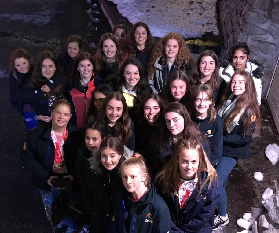 Burgess Hill Girls Ski Team 2019-20