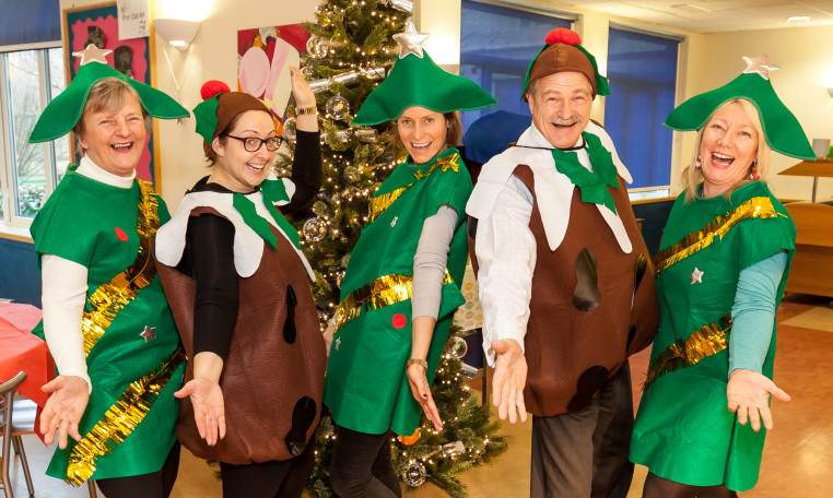 Burgess Hill Girls SLT Christmas dress up
