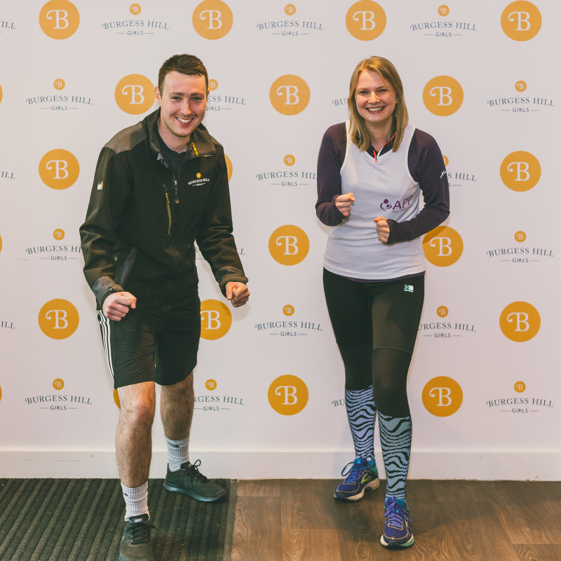 Catherine and Rob Burgess Hill Girls Marathon Runners