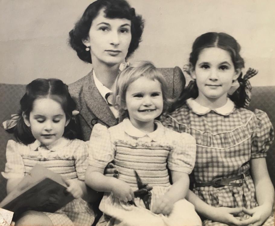 Joanna, Mona, Belinda and Ingrid circa 1950