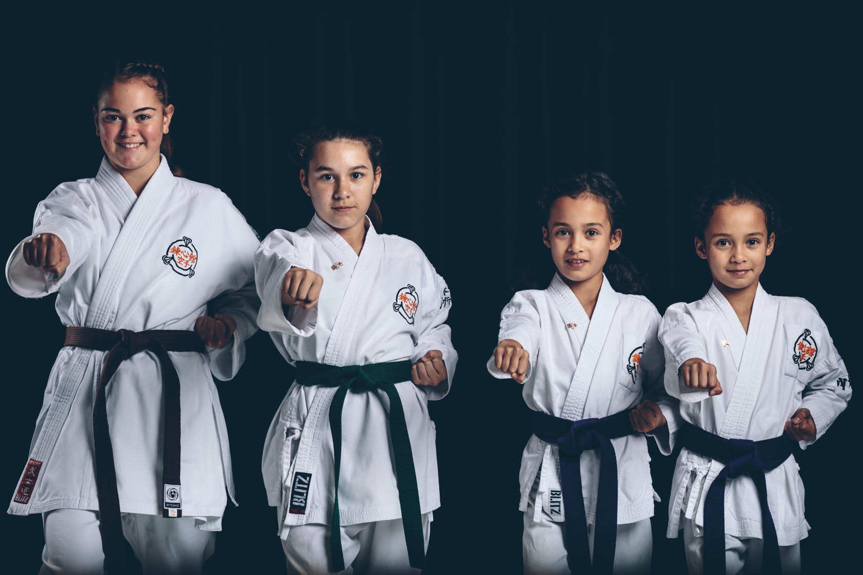 Karate girls in GB squad 2017