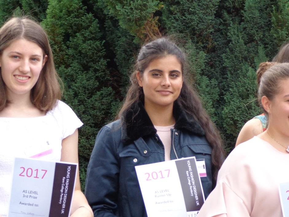 Natasha W with finalist certificate