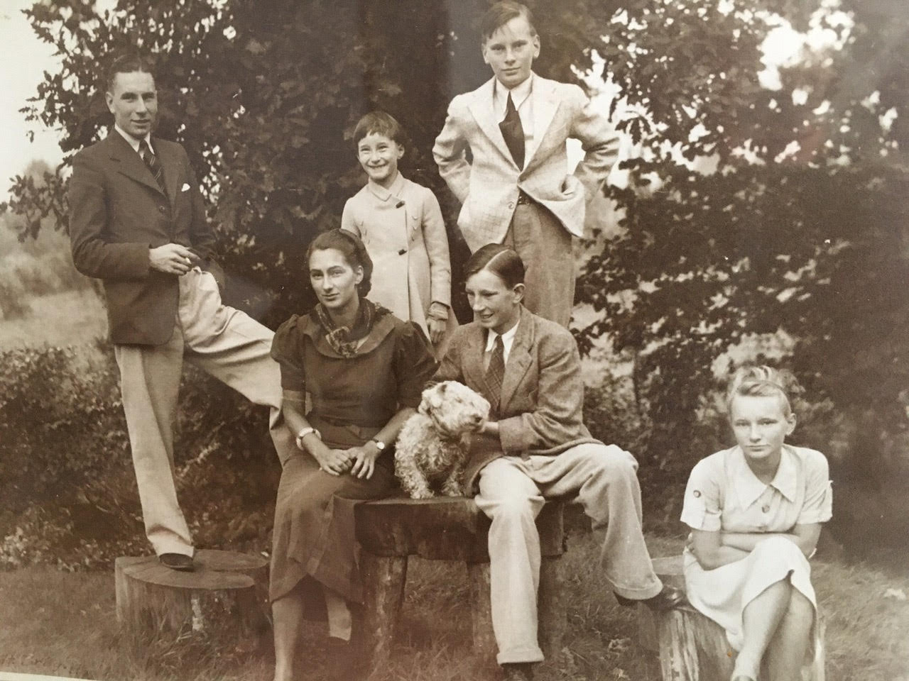 Neil, Mona, Angela, Alistair, Hector and Sheila. Circa 1936