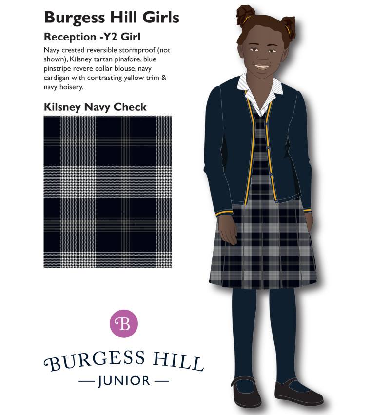 Year 3 - Year 6 Burgess Hill Girls Junior Uniform