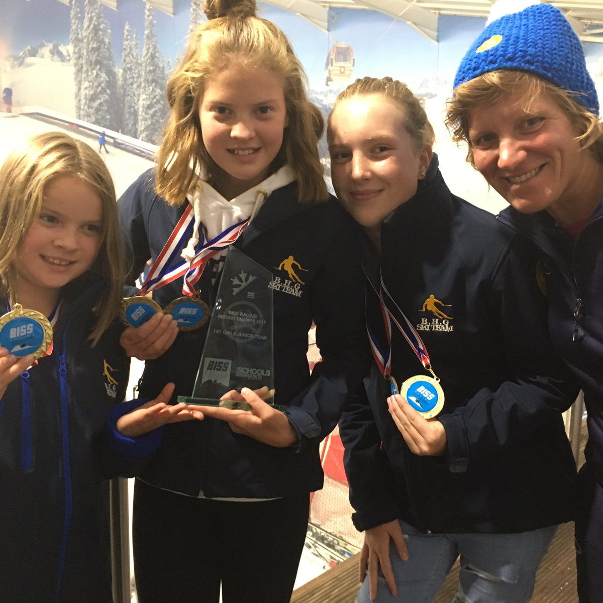 Skiing Champs Burgess Hill Girls Juniors