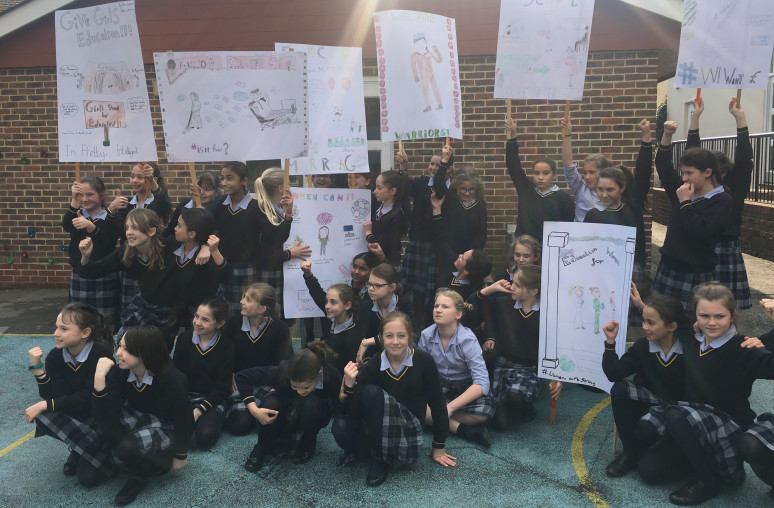 Suffragettes at Burgess Hill Girls Junior School