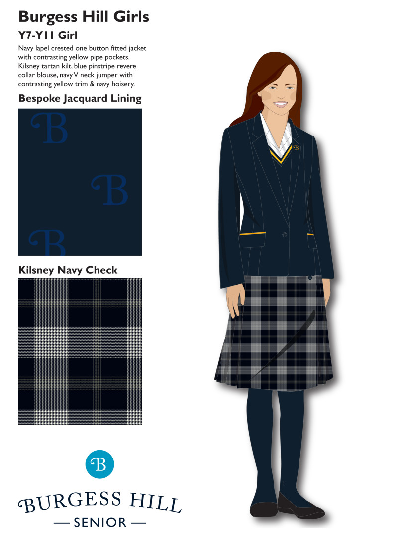 Y7-11 burgess hill girls uniform