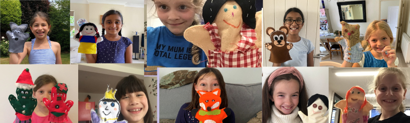Year 3 with their home-made puppets