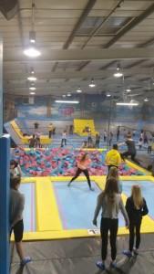 Boarders visit Air Hop Trampoline Park