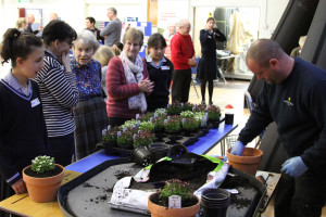 plant potting at Burgess Hill girls