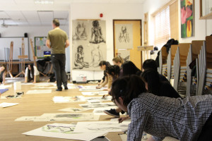 Life Drawing with Royal Academy at Burgess Hill Girls
