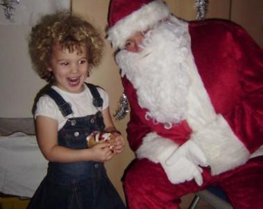 nursery meet father christmas at Burgess Hill Girls